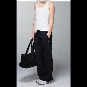 Lululemon size 4 black lined studio pants.